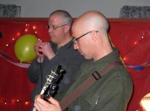 Andy & papa elf